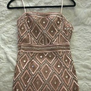 Strapless Adrianna Papell beaded Dress